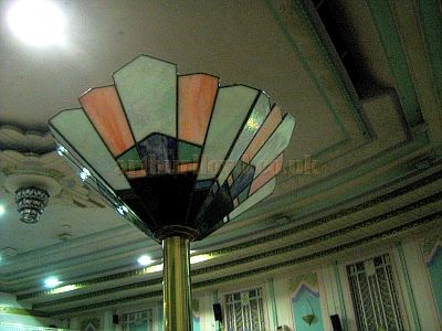An Art Deco Light Fitting at the Troxy Cinema in November 2010 - Courtey Charles Jenkins.
