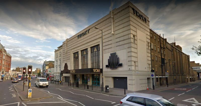 A Google StreetView Image of the Troxy, Commercial Road, London - Click to Interact.
