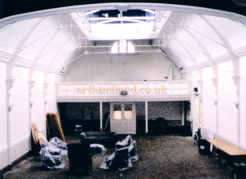 A Photograph of the interior, taken from the stage, showing the rear gallery of the former Twentieth Century Theatre in 1998 - Courtesy The Margaret & Brian Knight Collection.