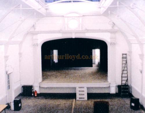 A Photograph of the interior and stage of the former Twentieth Century Theatre taken from the gallery in 1998 - Courtesy The Margaret & Brian Knight Collection.
