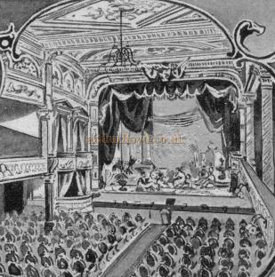 Auditorium of the Royal Standard Music Hall from a programme dated May 2nd 1904