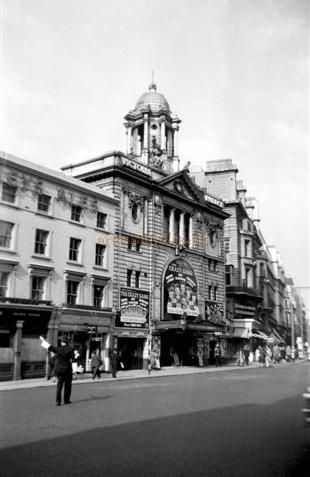 The Victoria Palace Theatre during the run of The Crazy Gang's 'These Foolish Kings' in 1957 - Courtesy Gerry Atkins, who was principal dancer in the show.