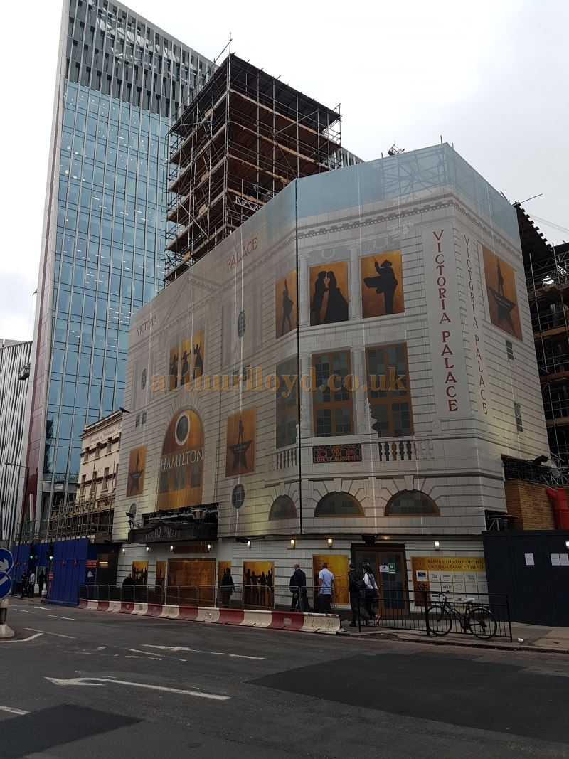 The Victoria Palace Theatre during the its Refurbishment in September 2017, Photo M. L.