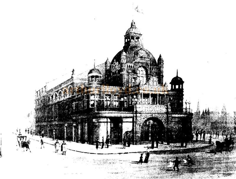 A sketch of Her Majesty's Theatre, Walsall - From the ERA 31st March 1900 - To see more of these Sketches click here.