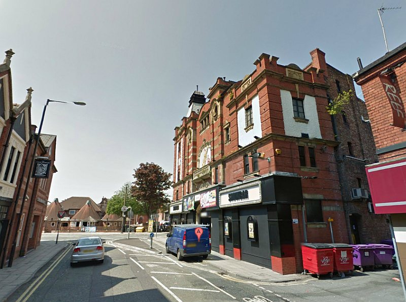 A Google StreetView Image of the former Palace Hippodrome Theatre, Warrington - Click to Interact