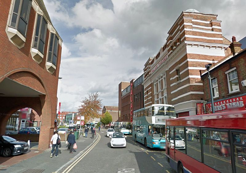 A Google StreetView Image of the Watford Palace Theatre - Click to Interact