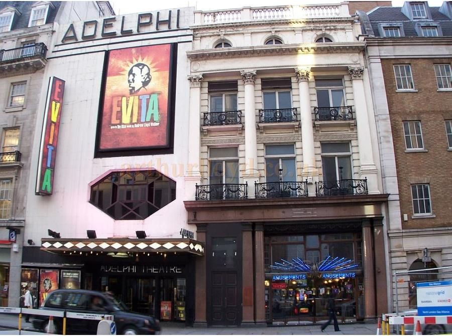 The Adelphi Theatre showing 'Evita' in 2006.