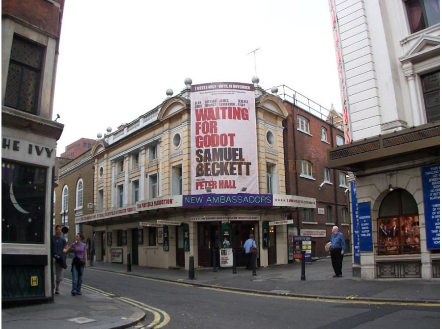 The Ambassadors Theatre showing 'Waiting for Godot' in 2006.