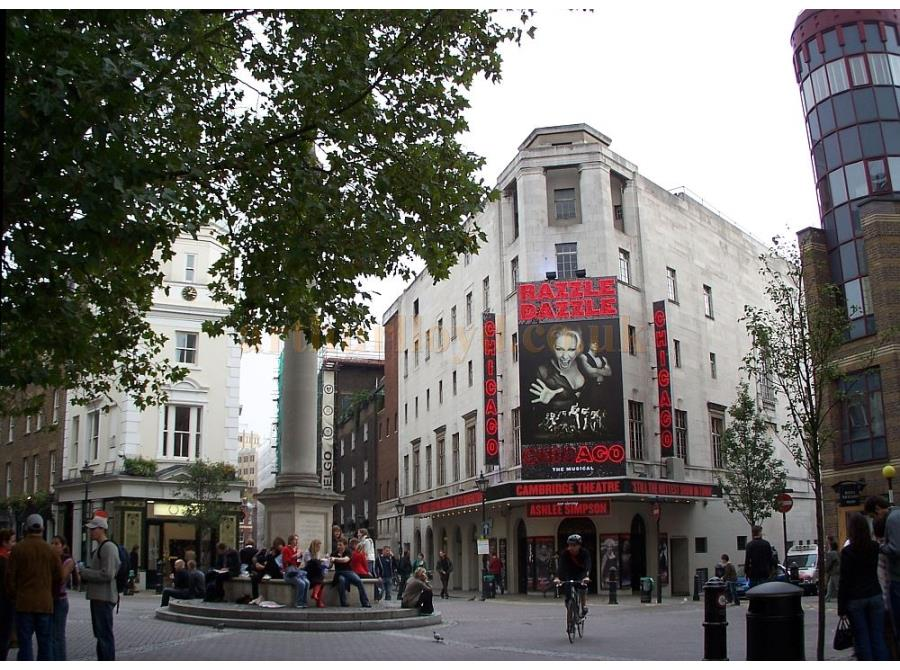 The Cambridge Theatre showing 'Chicago' in 2006.