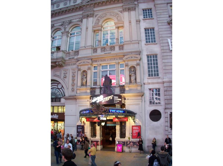 The Criterion Theatre showing 'The 39 Steps' in 2006.
