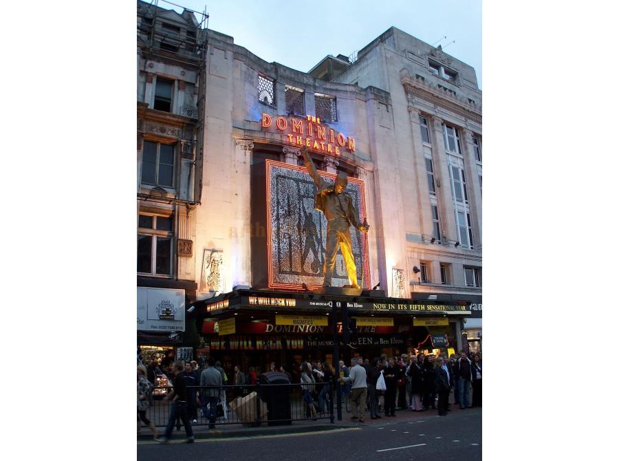 The Dominion Theatre showing 'We Will Rock You' in 2006.
