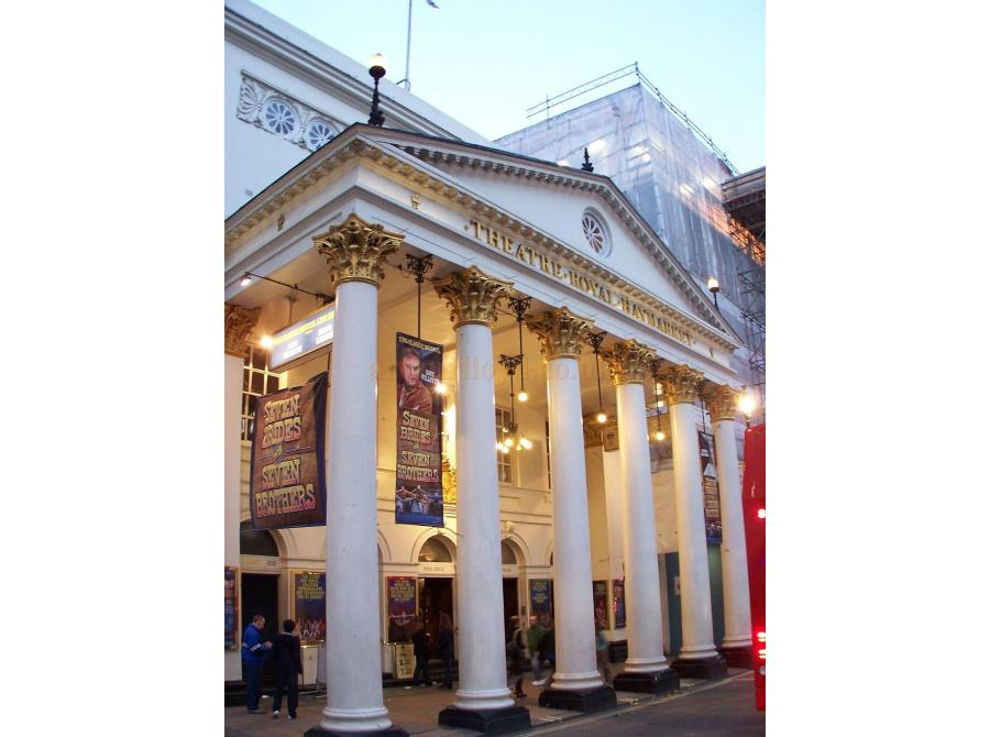 The Theatre Royal, Haymarket showing 'Seven Brides for Seven Brothers' in 2006.