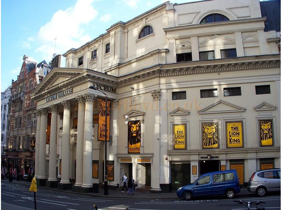 The Lyceum Theatre showing 'The Lion King' in 2006.