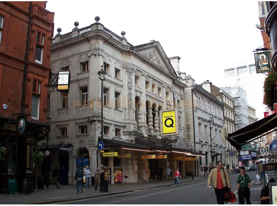 The Noel Coward Theatre showing 'Avenue Q' in 2006.