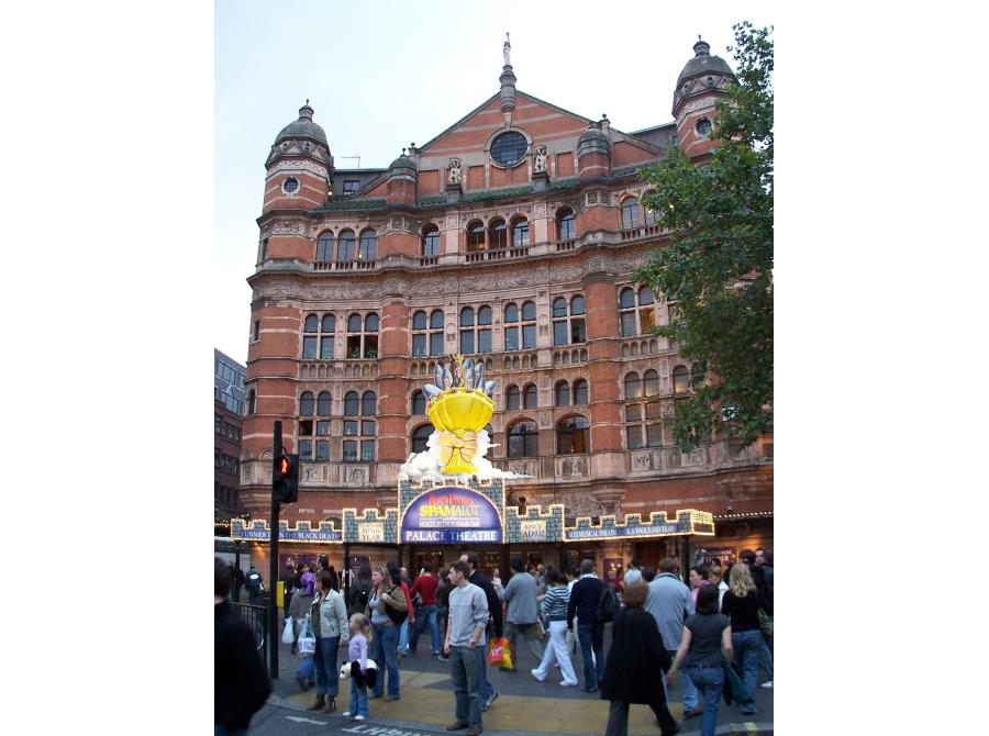 The Palace Theatre showing 'Spamalot' in 2006.