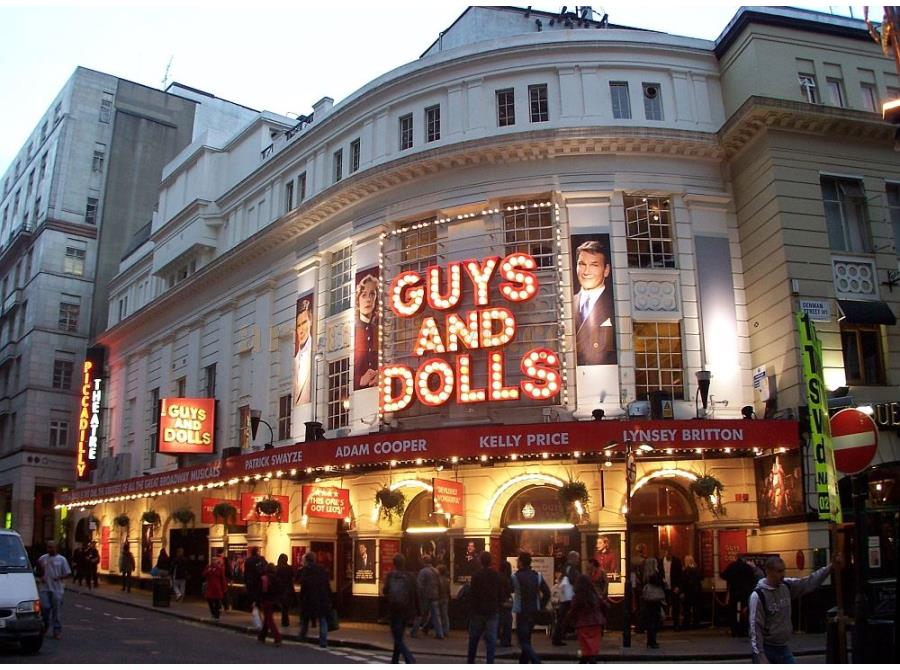 The Piccadilly Theatre showing 'Guys and Dolls' in 2006.