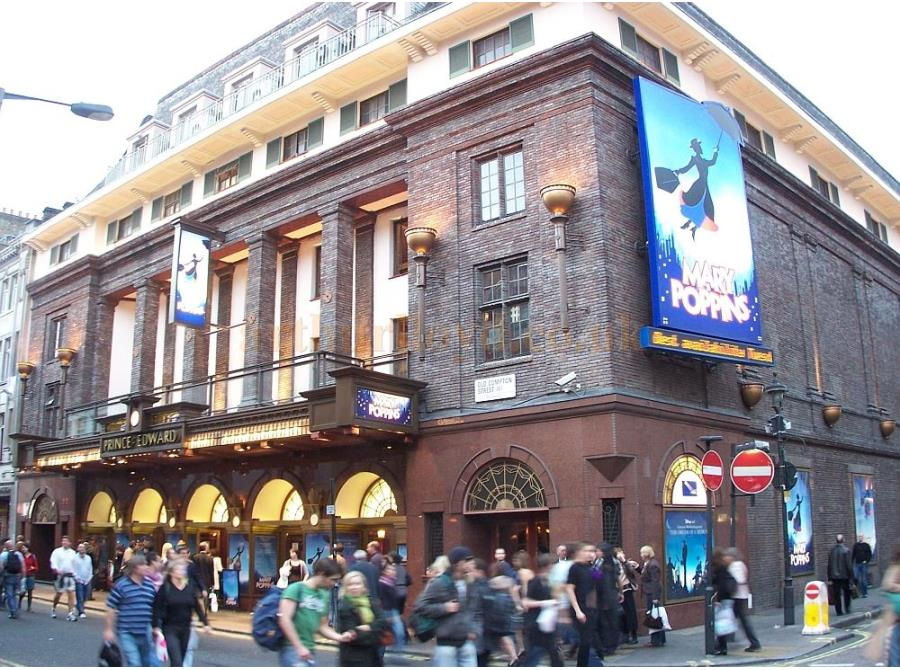 The Prince Edward Theatre showing 'Mary Poppins' in 2006.