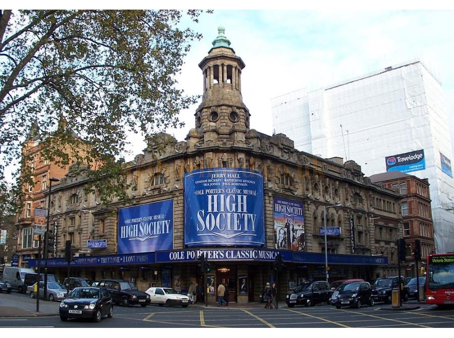 The Shaftesbury Theatre showing 'High Society' in 2006.