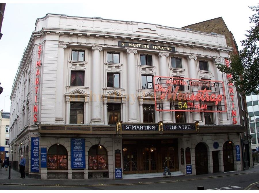 St. Martins Theatre showing 'The Mousetrap' in 2006.