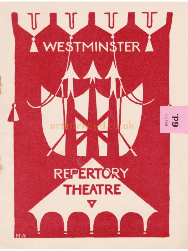 A Programme for 'Valkyrie' by Christen Jul at the Westminster Repertory Theatre in April 1935.