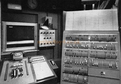 The Lighting Control Room in the Westminster Theatre in 1966 - From a Souvenir Book for the opening of the Westminster Theatre Arts Centre - Courtesy Richard Leigh.
