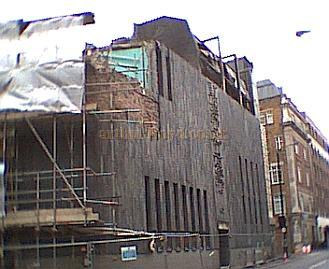 The remains of the Westminster Theatre after fire destroyed the building on the 27th June 2002 - Photo M. L.