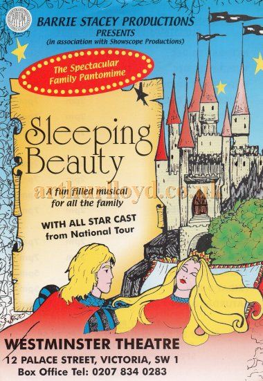 A Flyer for 'Sleeping Beauty' at the Westminster Theatre - Courtesy Keith Hopkins