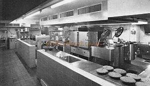 The Westminster Theatre Kitchen in 1966 - From a Souvenir Book for the opening of the Westminster Theatre Arts Centre - Courtesy Richard Leigh.