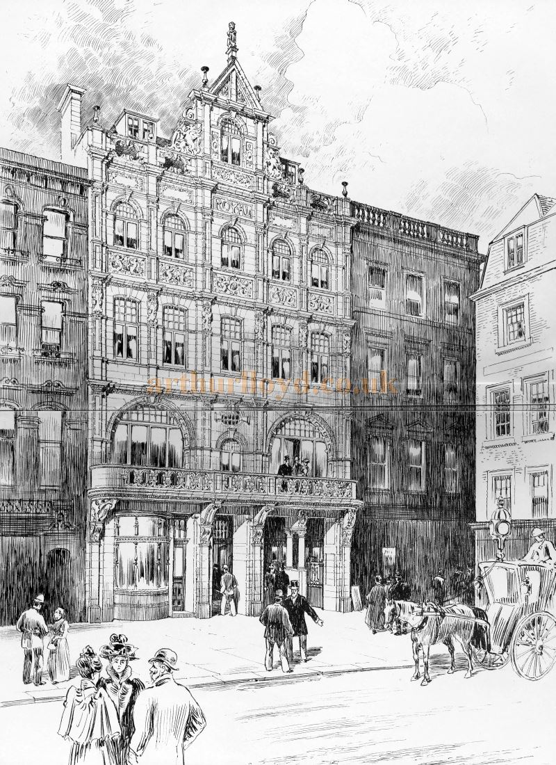 A Sketch showing the Royal Holborn Theatre of Varieties - From the Building News and Engineering Journal, January 7th 1898.