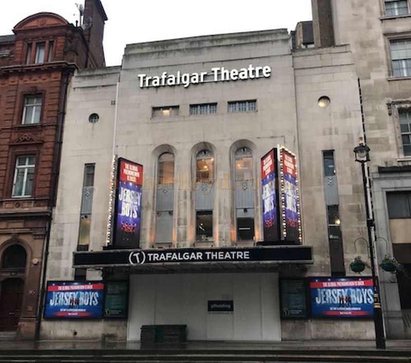 The Trafalgar Theatre whilst under its former name of the Trafalgar Studios, and during the run of 'Bent' in October 2006.