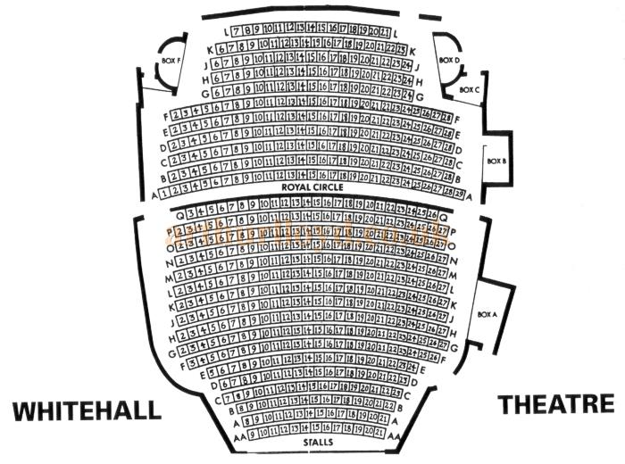 A 1970s Seating Plan for the Whitehall Theatre