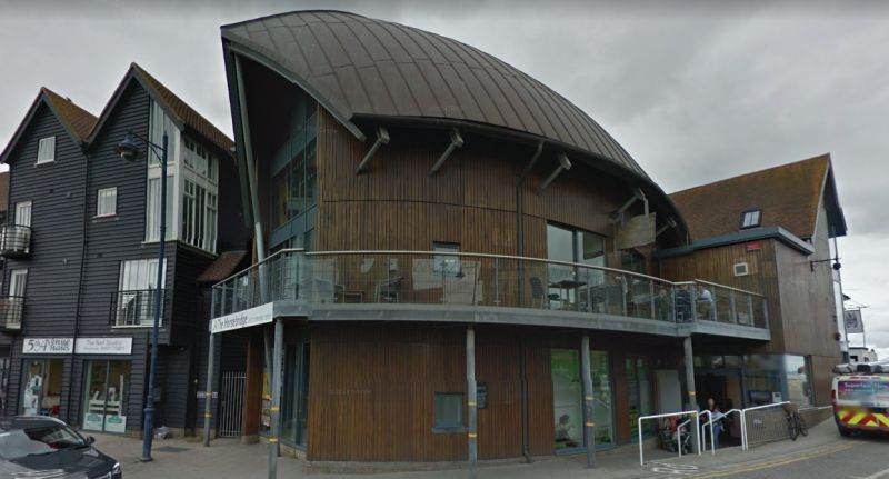 A Google StreetView Image of the Horsebridge Centre, Whitstable, constructed on the site of the former Assembly Rooms Theatre in 2004 - Click to Interact.