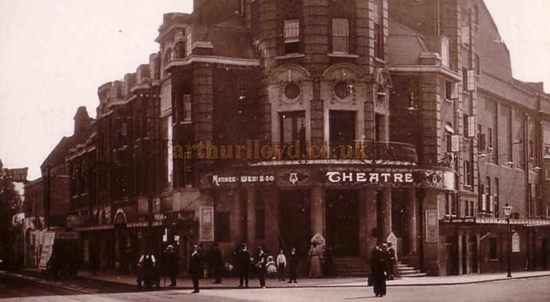The Wimbledon Theatre - Detail from a postcard posted in 1911