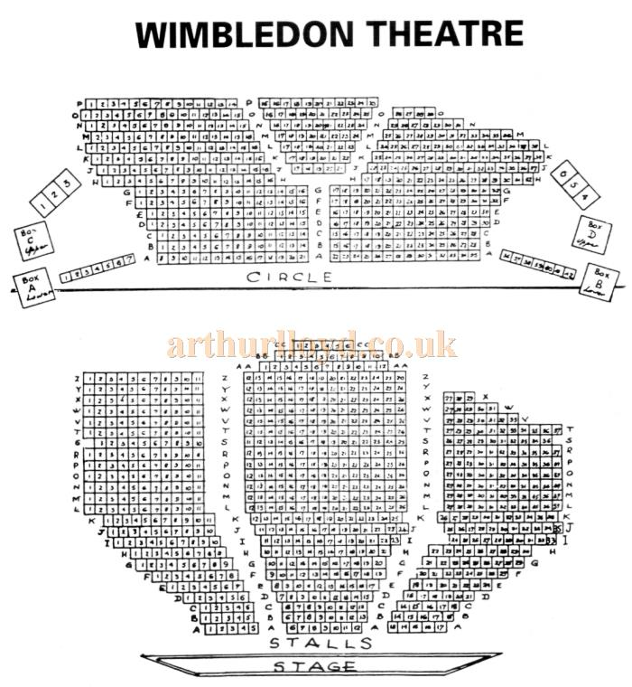 A 1970s Seating Plan for the Wimbledon Theatre