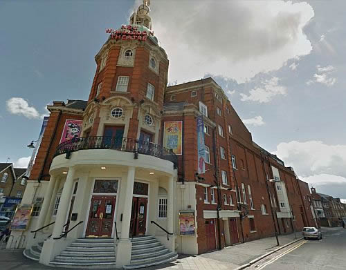 A Google StreetView Image of the Russell Road Elevation of the Wimbledon Theatre - Click to Interact.