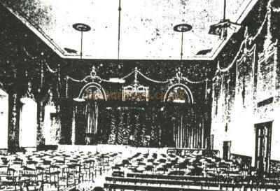 The interior of St John's House Banqueting Hall, Winchester in the early 20th Century, just before it became the Palace Theatre - Courtesy Alan Chudley.