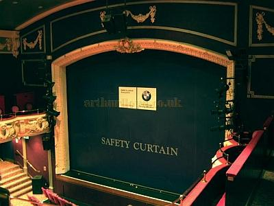 The Safety Curtain at the Theatre Royal, Winchester in 2010 - Courtesy KR.