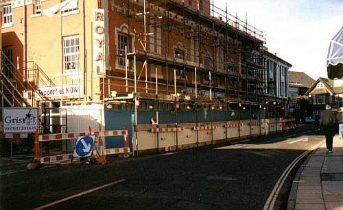 The Theatre Royal, Winchester undergoing major refurbishment in 1999 - Photo Phil Yates, Courtesy Alan Chudley.