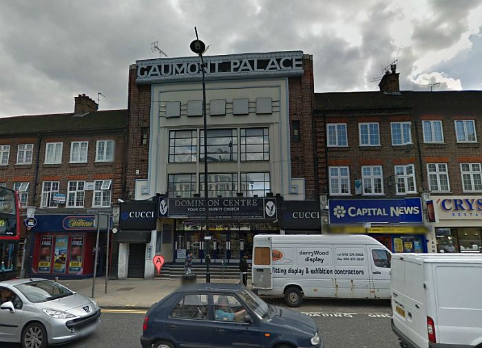 A Google StreetView Image of the former Gaumont Palace Cinema, Wood Green - Click to Interact