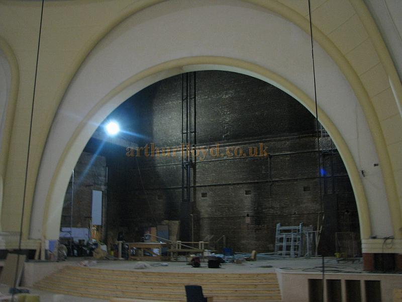 The Stage and Proscenium Arch of the former Gaumont Palace, Wood Green, during renovation work in 2009 - Courtesy Christian Drewett
