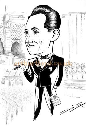 A sketch of George Hoare at the Wood Green Empire. George was manager of the Theatre from the late 1940s before becoming General Manager of the Theatre Royal, Drury Lane in 1958 - Courtesy his son Jeremy Hoare.