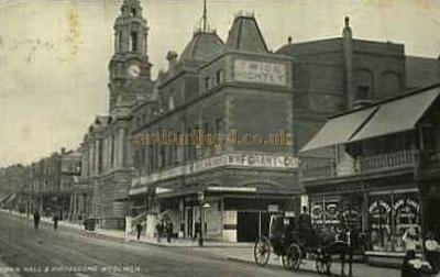 A Postcard for the Woolwich Hippodrome, formerly the Grand Theatre, whilst showing Twice Nightly Variety.