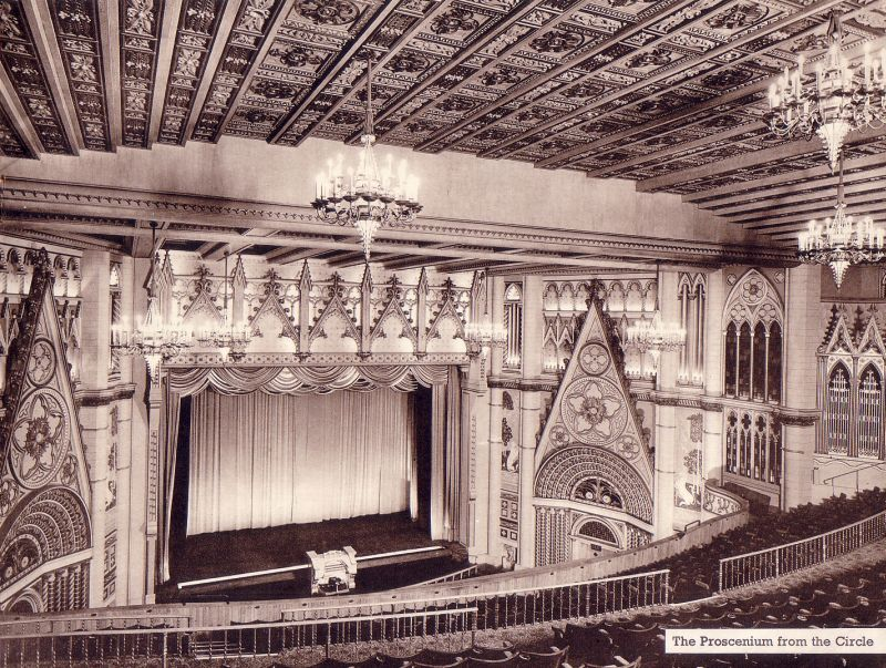 The Auditorium of the Woolwich Granada from a Souvenir Brochure produced for the opening of the Theatre in 1937 - Click to see the whole programme with an article by Theodore Komisarjevsky.