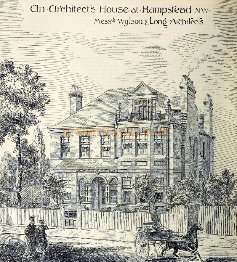 Hilldene House, Hampstead - From The Building News and Engineering Journal, December 6th 1889