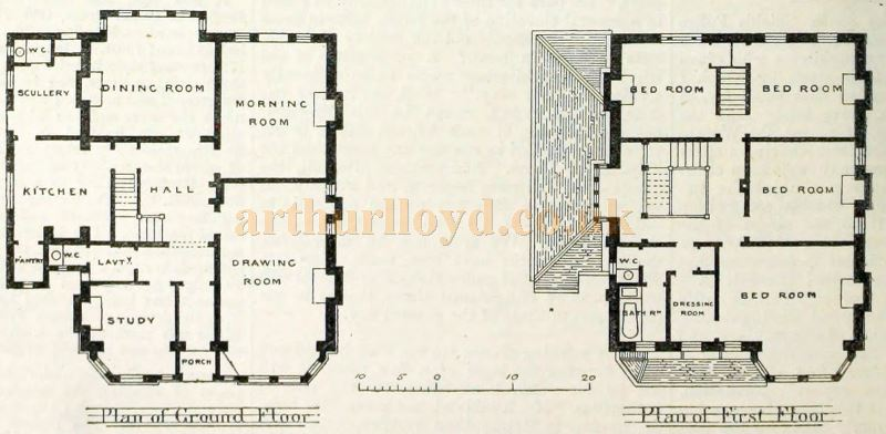 Plans of Hilldene House - From The Building News and Engineering Journal, December 6th 1889