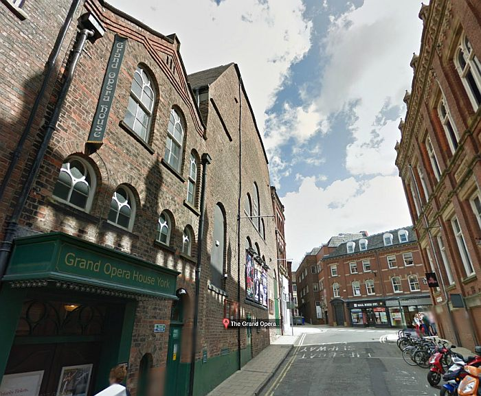 A Google StreetView image of the Grand Opera House, York - Click to Interact
