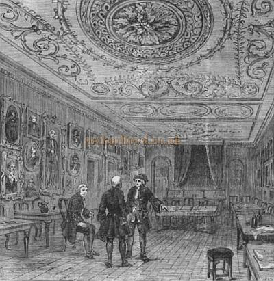 Evans's interior - From Old & New London 1897